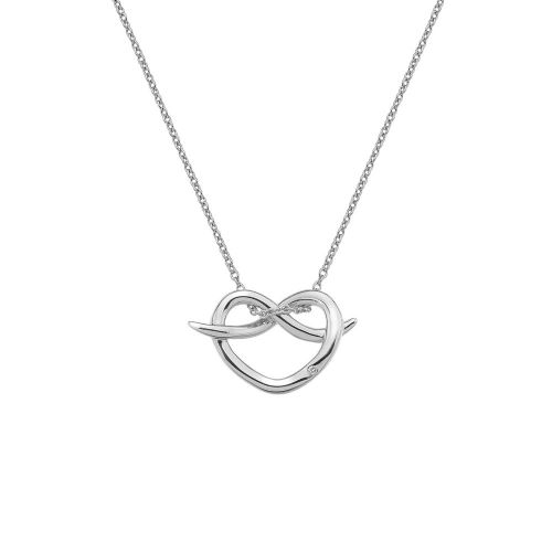 Hot Diamonds Sterling Silver Infinity Heart necklace DP604